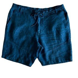 Calvin Klein Jeans Indigo Blue Linen Shorts 38